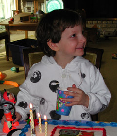 Alexander, at his fourth birthday party